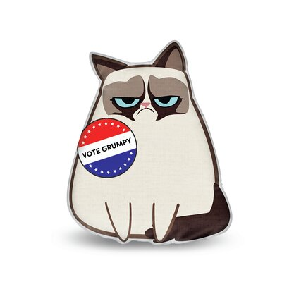 Democracy Grumpy Throw Pillow