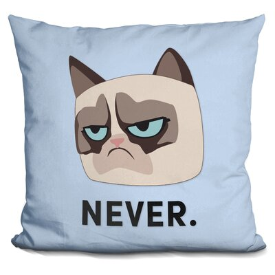 Never Grumpy Cat Throw Pillow