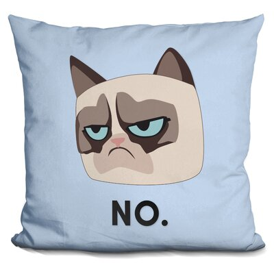 No Grumpy Cat Throw Pillow