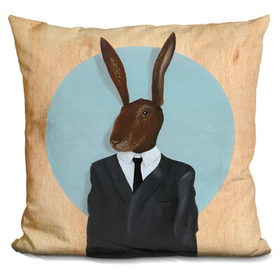 Rabbit Throw Pillow