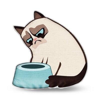 Fill My Bowl Grumpy Cat Throw Pillow