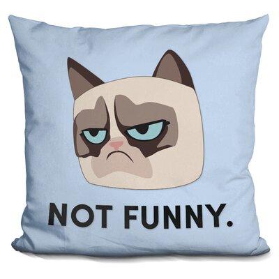 Not Funny Grumpy Cat Throw Pillow
