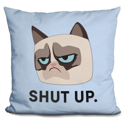 Shut Up Grumpy Cat Throw Pillow