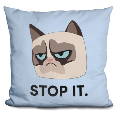 Stop It Grumpy Cat Throw Pillow