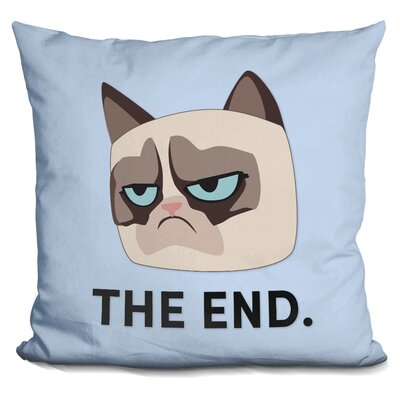 The End Grumpy Cat Throw Pillow
