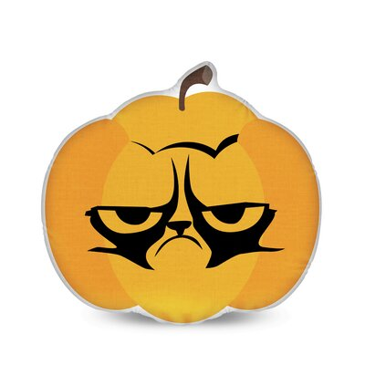 Grumpy Pumpkin Grumpy Cat Throw Pillow