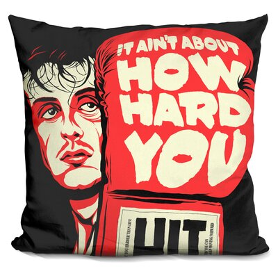 How Hard You Hit Throw Pillow