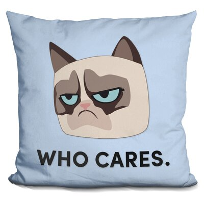 Who Cares Grumpy Cat Throw Pillow