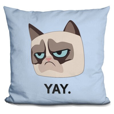 Yay Grumpy Cat Throw Pillow