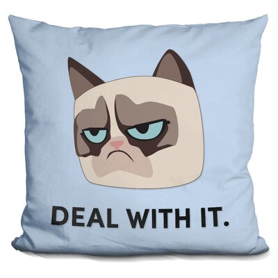Deal with It Grumpy Cat Throw Pillow
