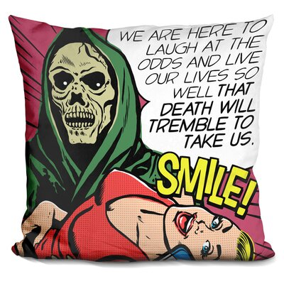 Death Will Tremble Throw Pillow