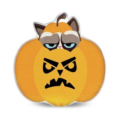 Not Scary Pumpkin Grumpy Cat Throw Pillow