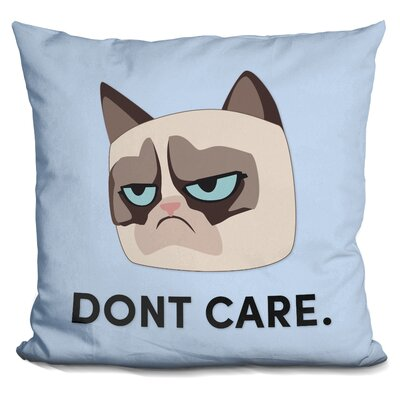 Dont Care Grumpy Cat Throw Pillow