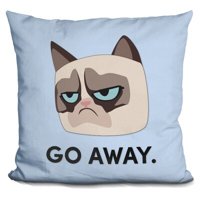 Go Away Grumpy Cat Throw Pillow