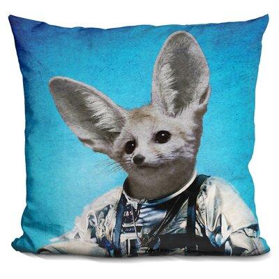 Captain Fennec Throw Pillow