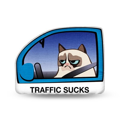 Traffic Sucks Throw Pillow