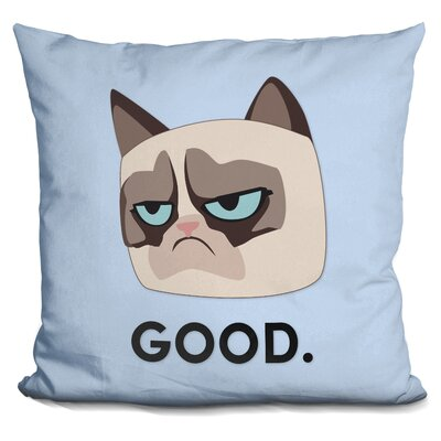 Good Grumpy Cat Throw Pillow