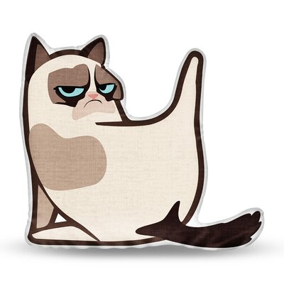 What Are You Looking at Grumpy Cat Throw Pillow