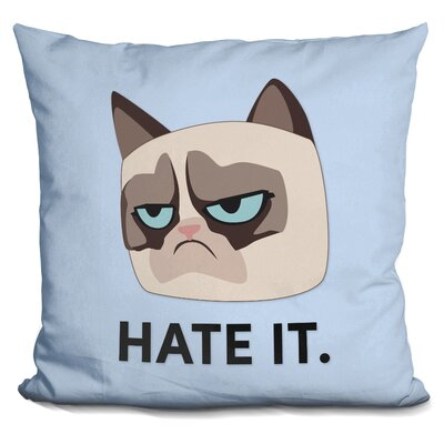 Hate It Grumpy Cat Throw Pillow