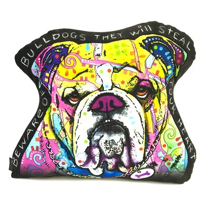 English Bulldog Shaped Throw Pillow
