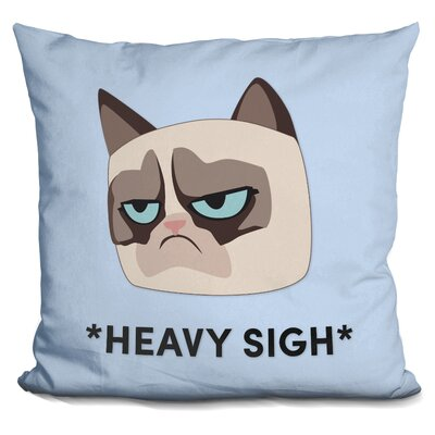 Heavy Sight Grumpy Cat Throw Pillow