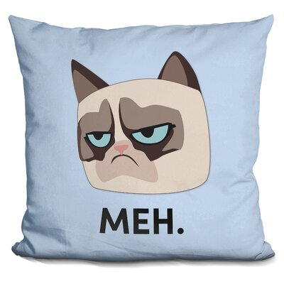 Meh Grumpy Cat Throw Pillow