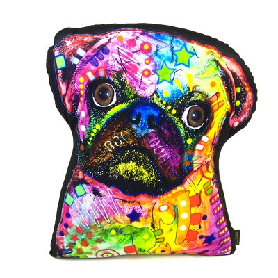 Pug Shaped Throw Pillow