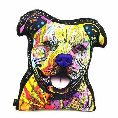 Pit Bull Shaped Throw Pillow