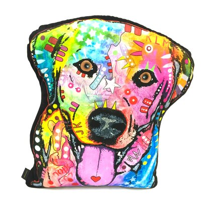 Labrador Shaped Throw Pillow