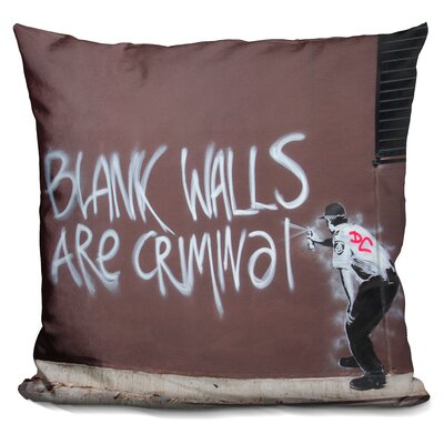 Blank Walls Are Criminal Throw Pillow