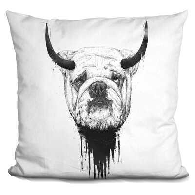 Pennebaker Bull Dog Throw Pillow