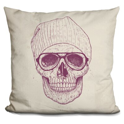 Penning Cool Skull Throw Pillow