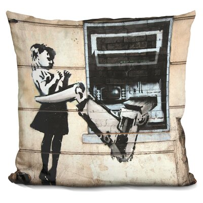 Cash Atm Girl Throw Pillow