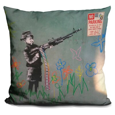 Child Soldier Throw Pillow
