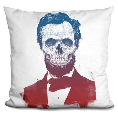Pensford Dead Lincoln Throw Pillow Color: Gray