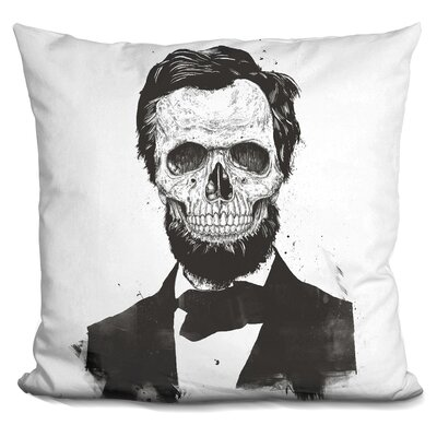 Pensford Dead Lincoln Throw Pillow Color: Black/White