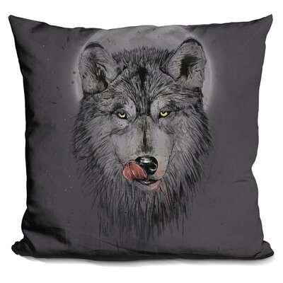Penwell Dinner Time Dark Throw Pillow Color: Black