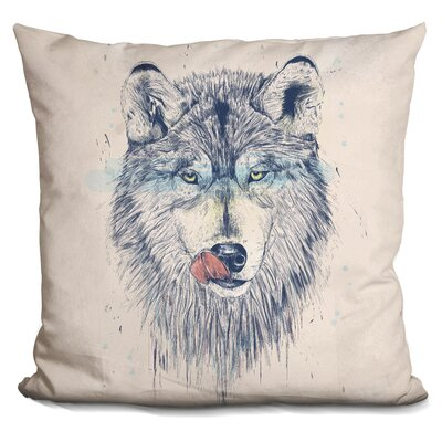 Penwell Dinner Time Dark Throw Pillow Color: Gray