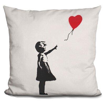 Girl with Balloon Throw Pillow