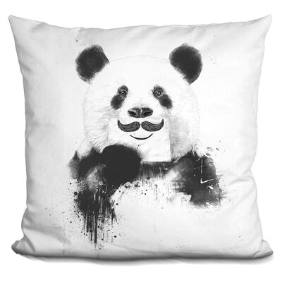 Funny Panda Throw Pillow