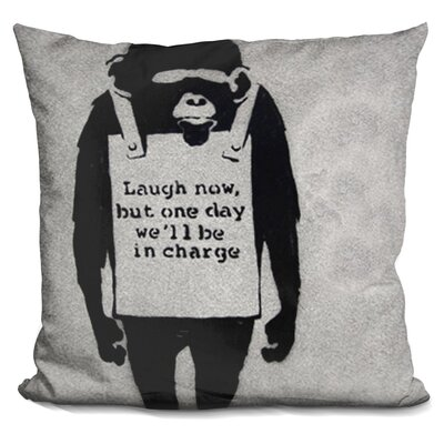Wearing Monkey Throw Pillow