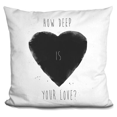 Hartsock How Deep Is Your Love Throw Pillow