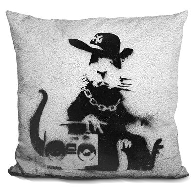 Gangster Rat Throw Pillow