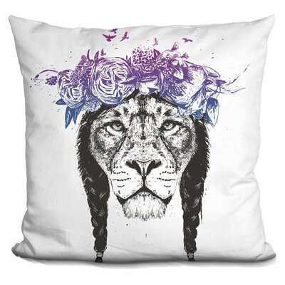 King of Lions Throw Pillow