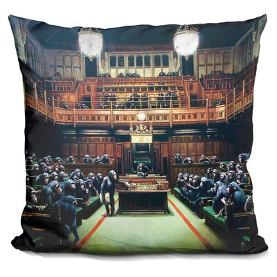 Monkey Parliament Throw Pillow
