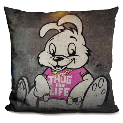 Thug For Life Bunny Throw Pillow