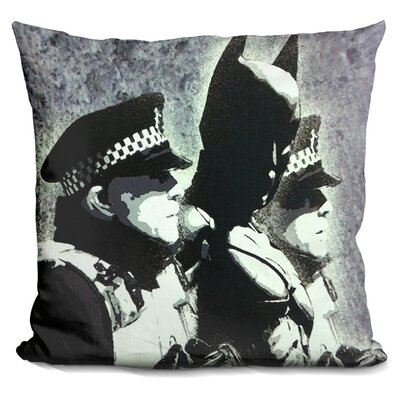 Batman and the Police Throw Pillow
