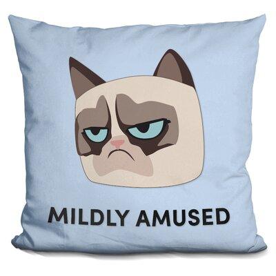Mildly Amuzed Grumpy Cat Throw Pillow