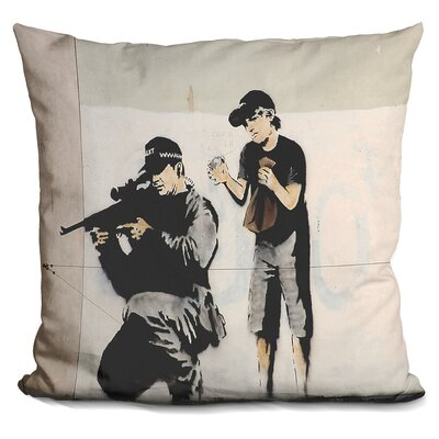 Sniper and Child Police Sniper Throw Pillow