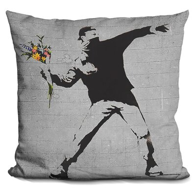 Rage Flower Thrower Flower T Throw Pillow